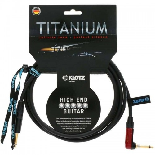 Klotz Titanium High end 3m Angled guitar cable