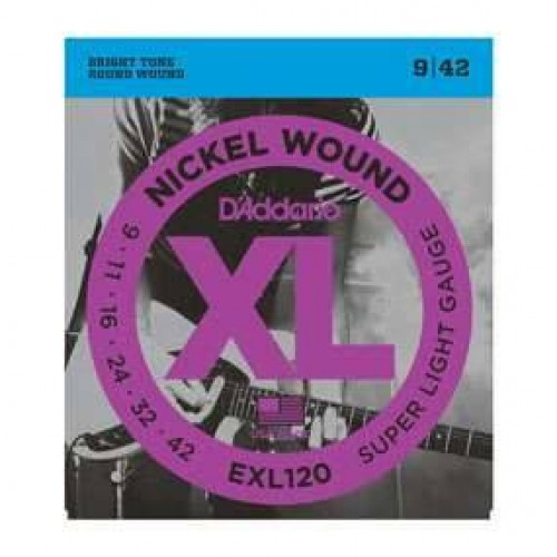 D'Addario 9-42 EXL120 Electric guitar strings